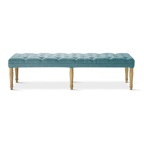 Hyde Park Home Teal Hailey Dressing Bench
