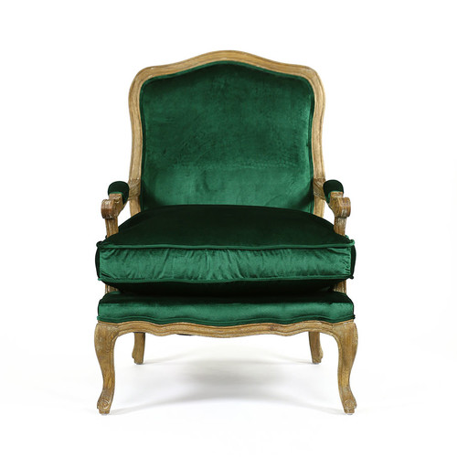 Hyde Park Home Emerald French Provincial Mila Occasional Chair
