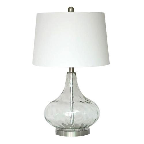 Hyde Park Home Clear Tear Drop Table Lamp