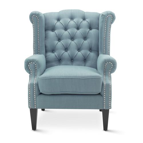 Hyde Park Home Teal Duke Wingback Armchair