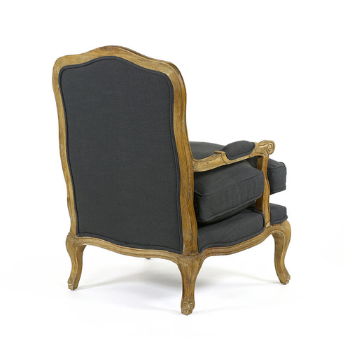 Hyde Park Home Charcoal Mila French Provincial Occasional Chair