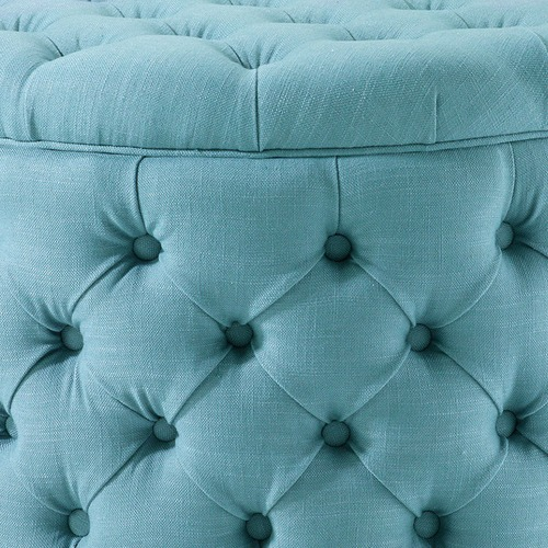 Hyde Park Home Large Teal Jessica Storage Ottoman
