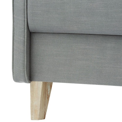 Hyde Park Home Wolf Grey Phoebe Piped Bedhead