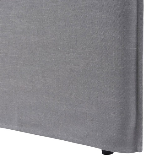 Hyde Park Home Wolf Grey Diablo Bedhead with Slipcover