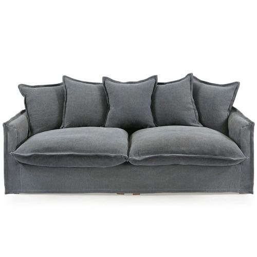 Hyde Park Home Slate Cumulus Premium 3 Seater Cotton Slipcover Sofa