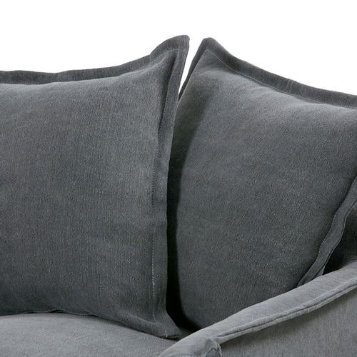 Hyde Park Home Slate Cumulus Slipcover Armchair