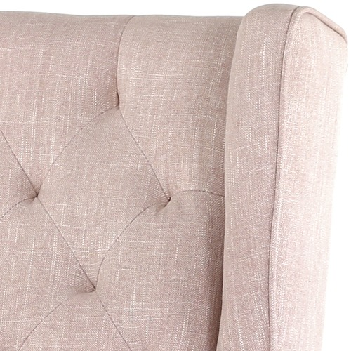 Hyde Park Home Dusty Pink Isla Wingback Rocking Chair
