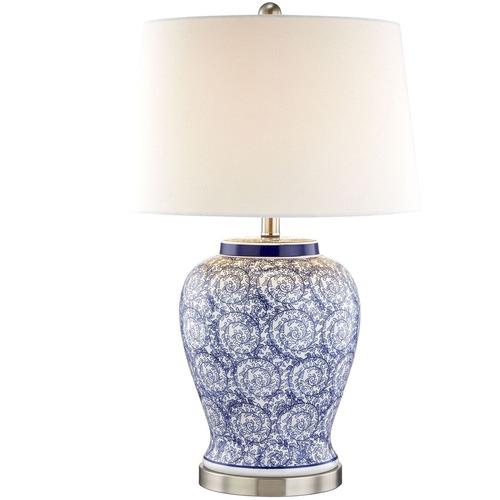 Hyde Park Home Eliza Swirl Ceramic Table Lamp
