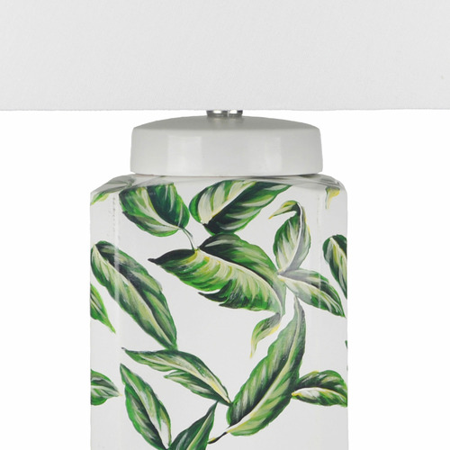 Hyde Park Home Green Leaf Eden Ceramic Table Lamp