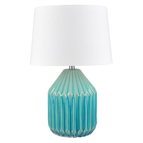 Hyde Park Home Blue Glaze Nori Ceramic Table Lamp