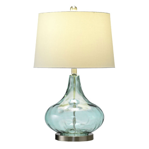 Hyde Park Home Misty Aqua Tear Drop Table Lamp