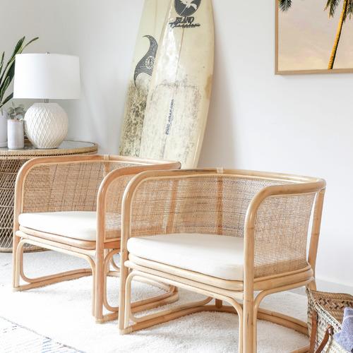 Hyde Park Home Flemming Rattan Club Chair