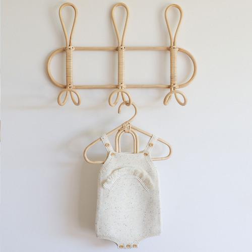 Bethan 3 Hooks Twist Rattan Wall Hanger