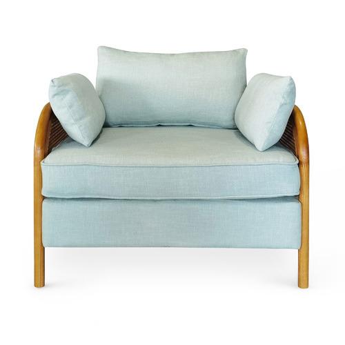 Hera Cotton-Blend Rattan Club Chair