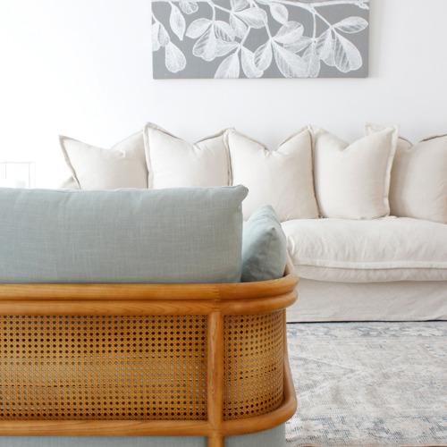Hera Linen-Blend Rattan Club Chair
