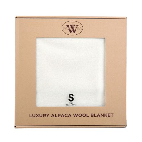 Wooltara Alpaca Wool Blanket Cream