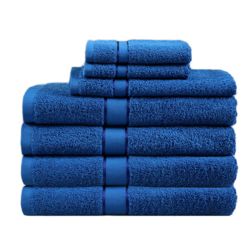 Dreamaker Snorkel Blue 7 Piece Egyptian Cotton Towel Set