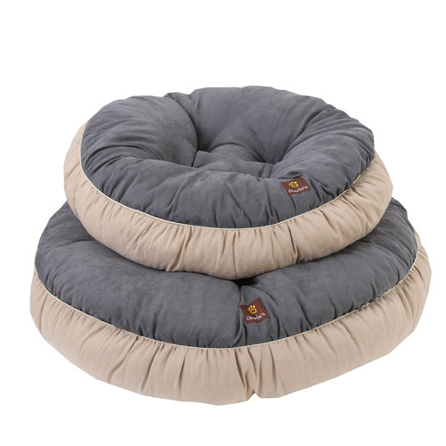 Charlies Pet Product Charlie's Dark Grey & Cream Pet Round Bed Cushion