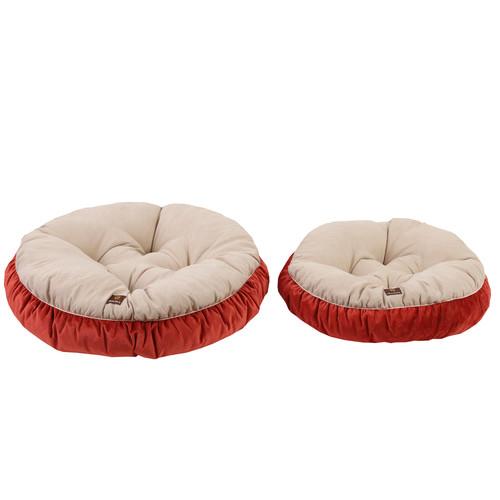 Charlies Pet Product Charlie's Cream & Orange Pet Round Bed Cushion