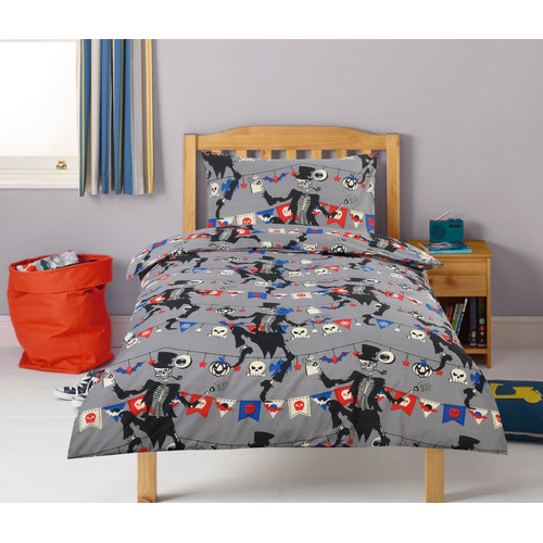 Bone Party Printed Quilt Cover Set