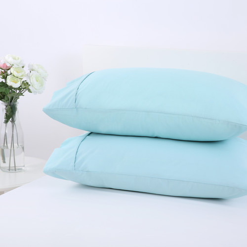 Dreamaker Easy Care Plain Dyed 250TC Standard Pillowcase Twin Pack
