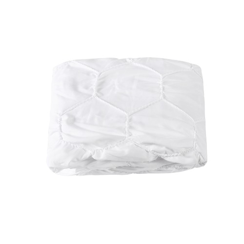 Dreamaker White Hexagon Microfibre Quilt Cover Set