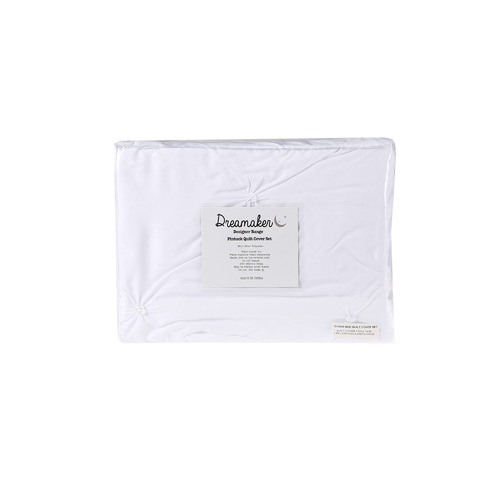Dreamaker White Diamond Microfibre Quilt Cover Set