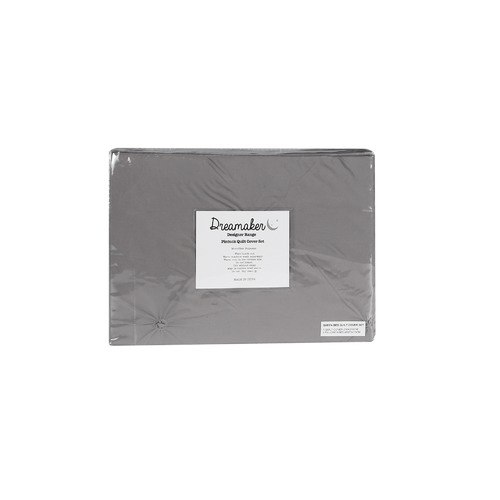 Dreamaker Slate Diamond Microfibre Quilt Cover Set