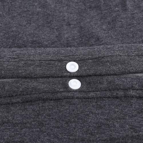 Dreamaker Charcoal Jersey Cotton Quilt Cover Set