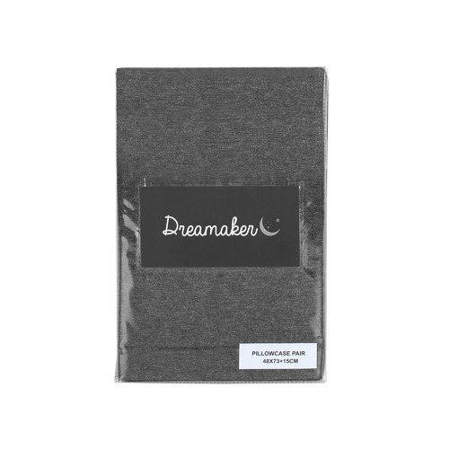 Dreamaker Jersey Cotton Standard Pillowcases