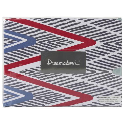 Dreamaker Alberta Printed Quilt Cover Set