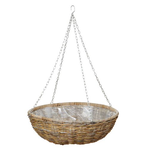 The Home Collective Rattan Hanging Planter