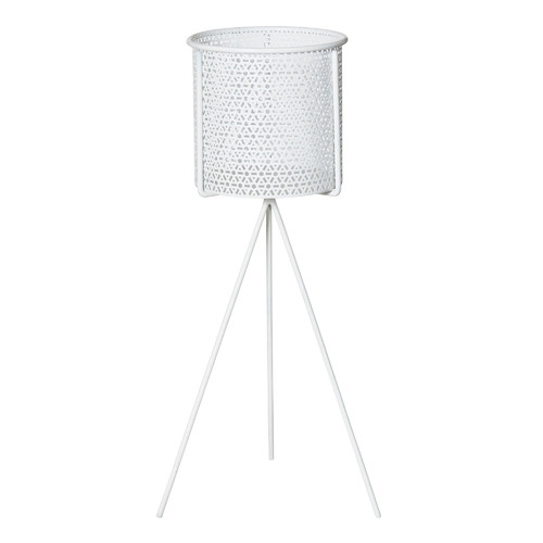 The Home Collective White Lilia Metal Plant Stands