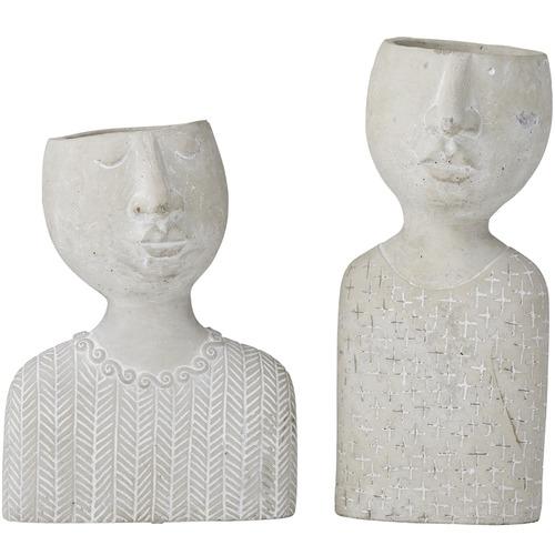 2 Piece Emilie & Emile Cement Décor