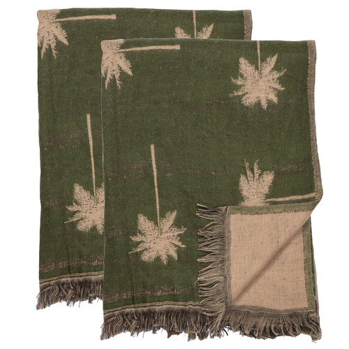 The Home Collective Palmos Cotton-Blend Throws