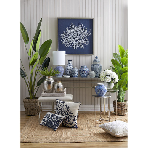 The Home Collective Blue Coral Framed Wall Accent