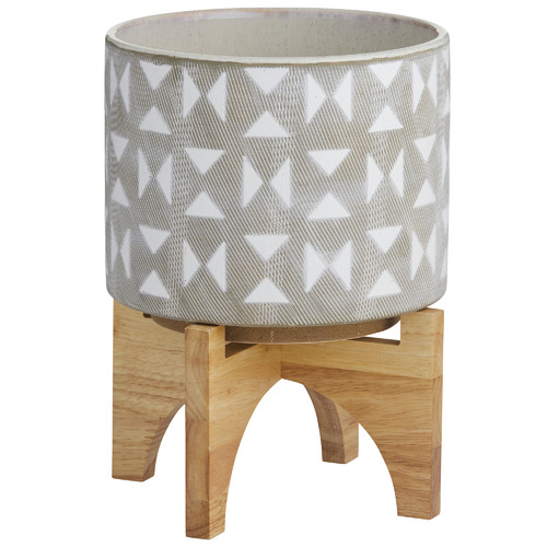 The Home Collective Hudson Ceramic Planter with Stand