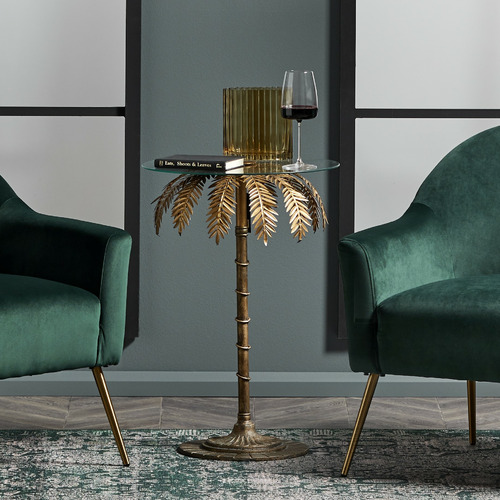 The Home Collective Brass Palm Tree Side Table | Stay at Home Mum