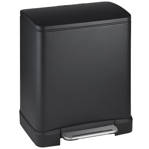 EKO Matte Black 20L E-Cube Step-On Waste Bin