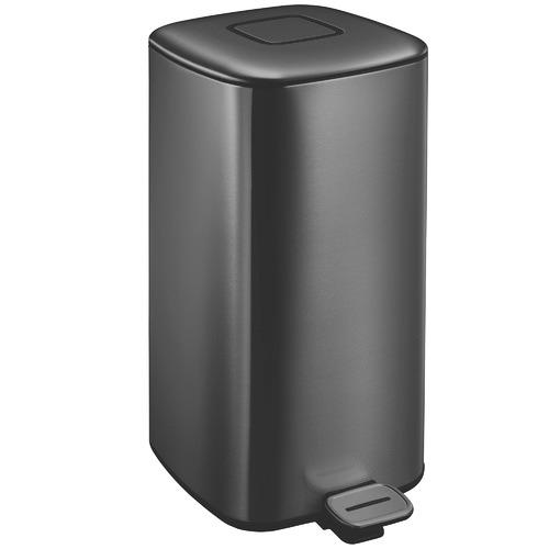 Black Regent 32L Step-On Waste Bin
