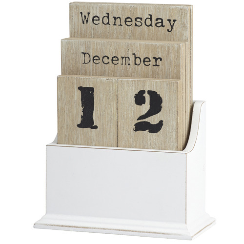 The Home Collective Natural & White Desk Calendar