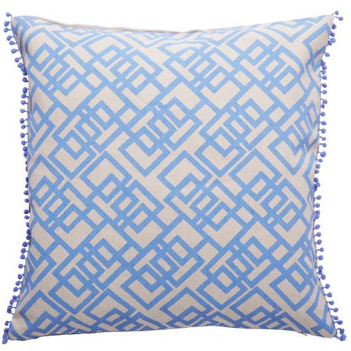 Canvas & Sasson Bermuda Sky Maze Cushion