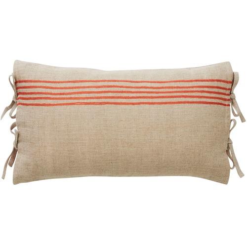 Canvas & Sasson Tangerine Monaco Town Linen & Velvet Cushion