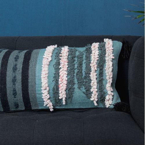 Canvas & Sasson Trove Minty Cotton Cushion