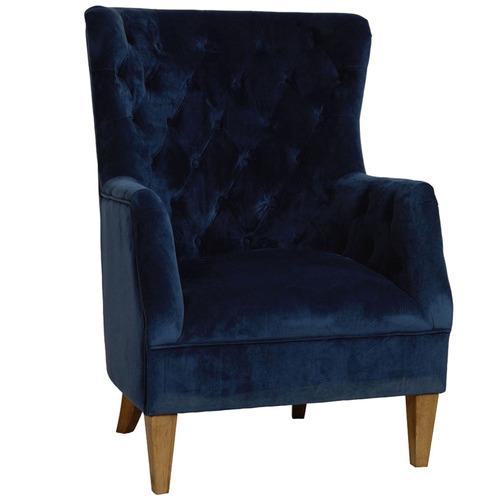 Canvas & Sasson Lotus Velvet Armchair