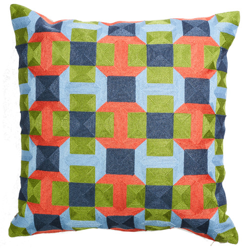Canvas & Sasson Multi-Coloured Palisades Whitney Cushion