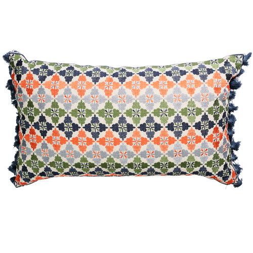 Multi Coloured Palisades Hickory Cushion