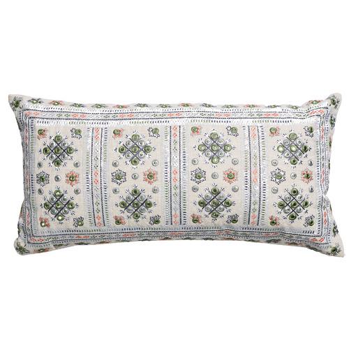 Canvas & Sasson Ivory Palisades Rivoli Cushion