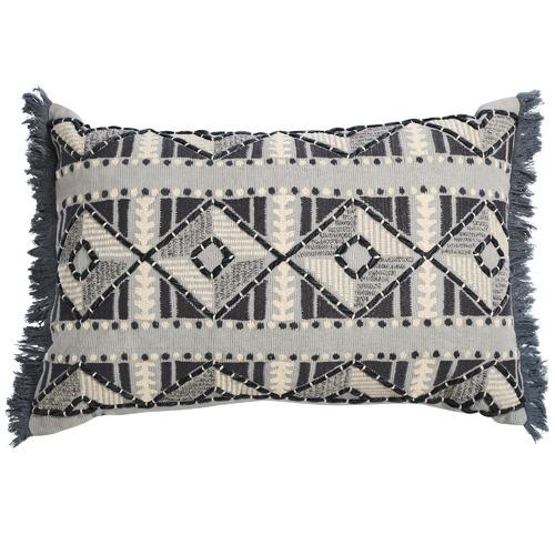 Canvas & Sasson Grey Loom Berber Cotton Cushion