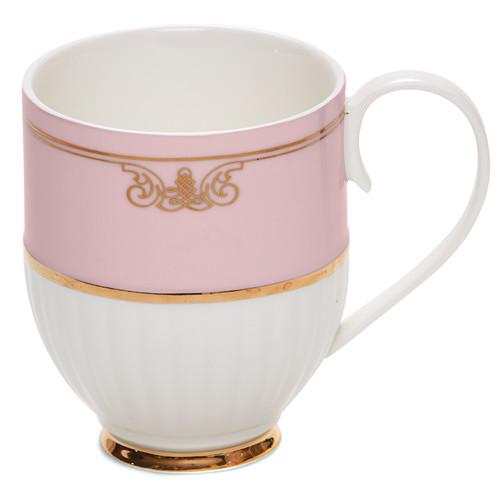Salt & Pepper Salt & Pepper Eclectic Pink Ribbed Mugs